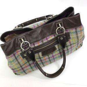 COACH Penelope Tattersall WOOL PLAID Bag Purse